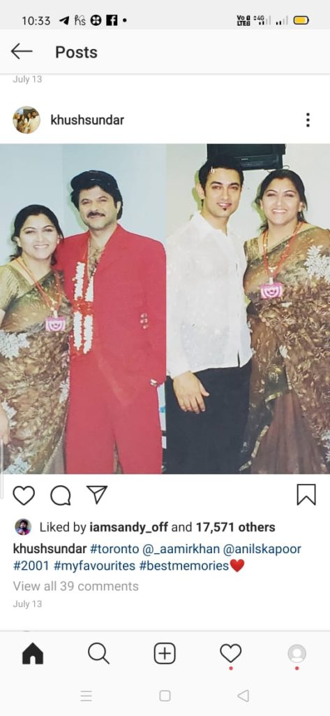 Kushbu with bollywood heros
